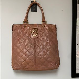 J. Crew Quincy Quilted Leather Tote